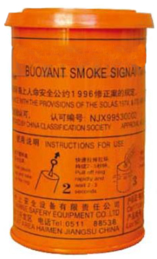 Buoyant Orange Smoke Flare