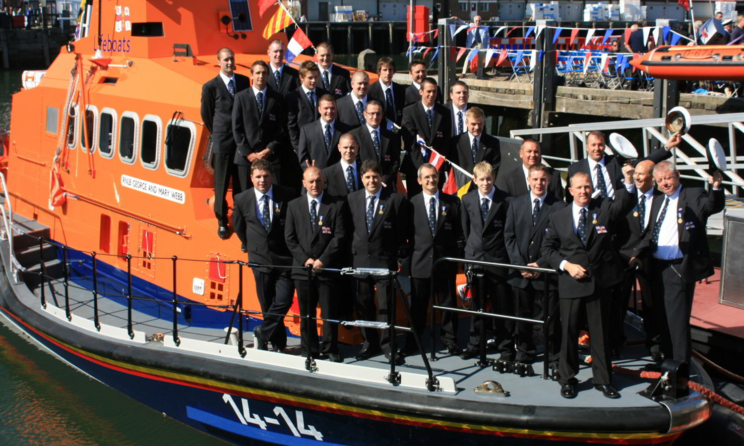 The Very Proud Lifeboat Crewmen