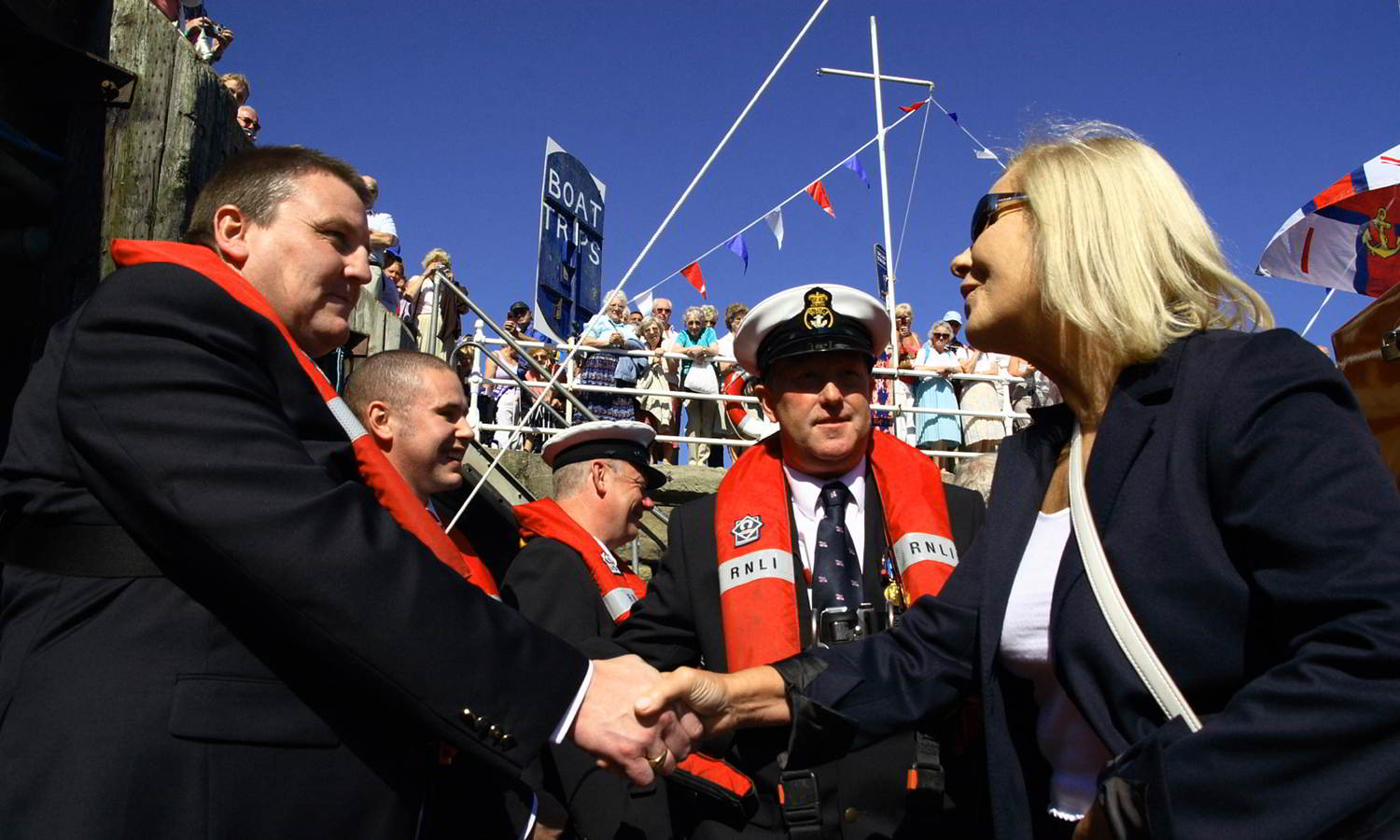 Meeting The Lifeboat Crew