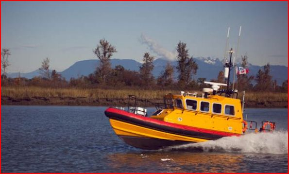 MV Roberts Bank Lifeboat on Fraser River