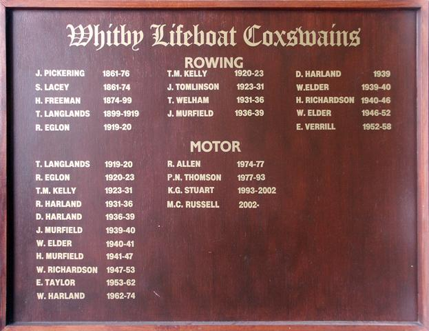 Whitby Lifeboat Coxswains